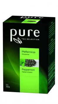 PURE TEA Pfefferminze, Sachets - 6x25 Stk.